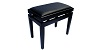 Piano Bench Deluxe Black