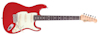 Fretking GREEN LABEL CORONA 60 - CANDY APPLE RED