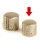 Knob small, Nickel aged