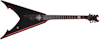 Schecter Mike Derks Jaw V Gloss Black/Red