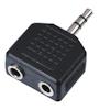 Adaptor 2x Mono Jack F / 1x Stereo Mini Jack M