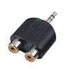 Adaptor 2x RCA F / 1x Mini Stereo Jack M