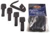 5 Velcro Straps, 225 Mm, Black