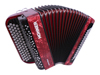 Hohner Nova II 80 A C-stepped - Red