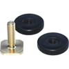 Rycote Brass Shoe Adaptor with 1/4-inch male thread