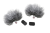 Rycote Grey Lavalier Windjammer - pair