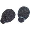 Miniature Lavalier Foams Black (1 pack of 2)
