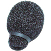 Miniature Lavalier Foams Black (1 pack of 10)