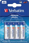 Batteries Verbatim Premium Alkaline AA 4-Pack