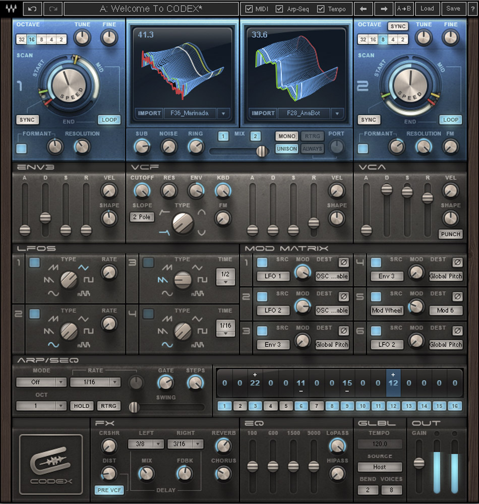 Waves Codex Wavetable Synth [Download]