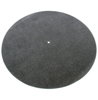Black leather turntable mat
