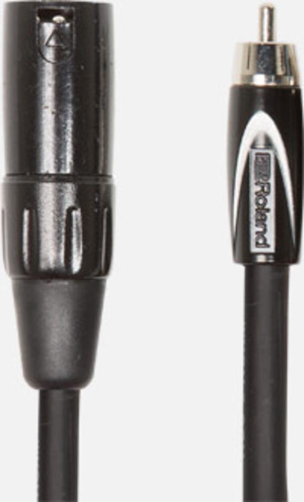 RCC-10-RCXM Roland XLR Male to RCA Phono 10ft