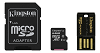 Kingston microSDXC 64GB + Adapter + USB Reader