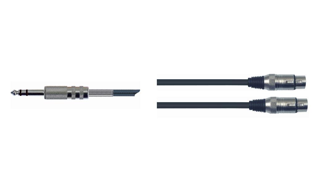 Quik Lok 1x6.3mm ST Ma > 2xXLR Fe 2m