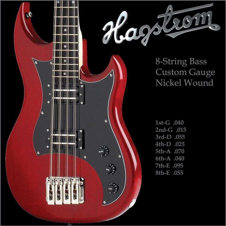 Hagström 8-String set for HB-8