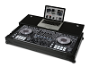 UDG Flight Case Pioneer DDJ-RZ/SZ Black Plus (Laptop Shelf + Wheels)