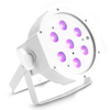 Cameo FLAT PAR CAN 7X3W UV WH