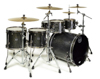 Mapex SV628XEB-KFB 5-pc Shell Pack, Flat Black Maple Burl