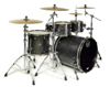 Mapex SV529XEB-KFB 4-pc Shell Pack, Flat Black Maple Burl