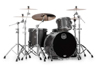 Mapex SV426XB-KFB 3-pc Shell Pack, Flat Black Maple Burl