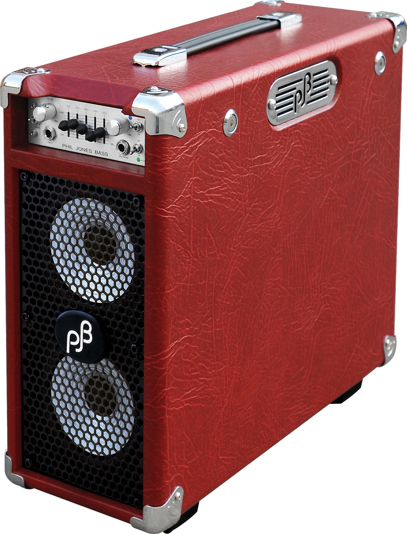 Phil Jones Briefcase Ultimate 160W Combo 2x5 Piranha-C Red