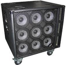 Phil Jones Piranha 9B Cabinet 9 x 5 / 900 Watts