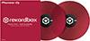 RekordBox Control Vinyl Pair Red