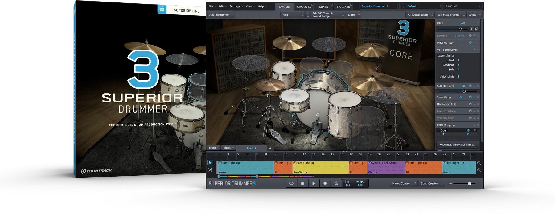 Toontrack Superior Drummer 3 Crossgrade from EZ Drummer 2 [Download]