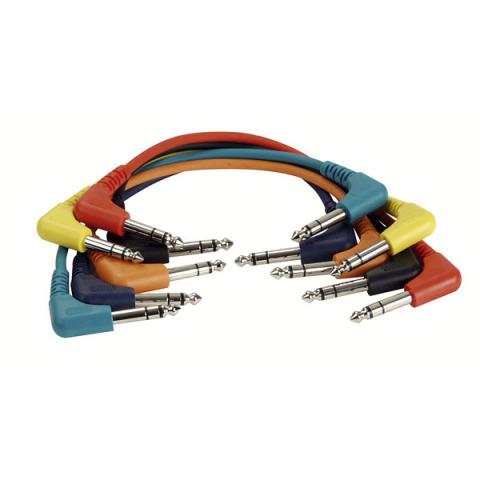 DAP Audio 1x6.3mm ST angled > 1x6.3mm ST angled 0.9m (6-pack)
