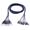 DAP Audio 8x6.3mm Ma > 8xRCA Ma 3m