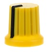 Knob yellow with black line