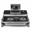 UDG Flight Case Pioneer DDJ-RB/SB/SB2 Silver Plus (Laptop shelf)