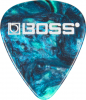 Boss Celluloid Pick Heavy OCEAN TURQUOISE 12 Pack
