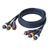 DAP Audio 2x RCA + 1x Digital cable 0,75m
