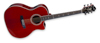 Hagström Siljan II Grand Auditorium-CE Special Edition Transparant Red