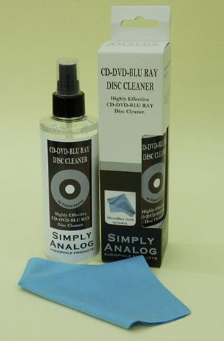 Simply Analog CD-DVD-Blu Ray Disc Cleaner Alcohol-Free 200ml + Microfiber Cloth
