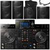 Pioneer DJ XPRS10x2, XPRS115Sx2, XDJRX2,DASXLR, Covers + Bag