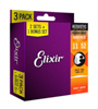 Elixir 16544 Acoustic Phosphor Bronze NANOWEB | 011-052 3-Pack