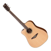 Vintage VEC501 Left Handed Acoustic Satin Natural With Usb