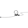 DPA 4166 Slim Omni Flex Earset, 110 mm , Black, Shure Mini-XLR