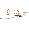 DPA 4288 Cardioid Flex Headset, 100 mm , Brown, Shure Mini-XLR