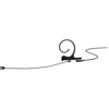 DPA CORE 4188 Slim Cardioid Flex Earset, 120 mm , Black, 3-pin LEMO