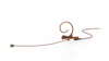 DPA CORE 4266 Omni Flex Earset, 110 mm , Brown, Shure Mini-XLR