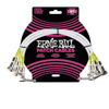 Ernie Ball EB-6055 Patch Cable 1' White 3-pack