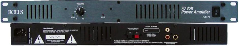 Rolls RA170 70V Power amplifier