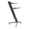 Keyboard Stand TOWER 130cm - 2-Tiers, 4 Arms - Black