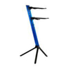 Keyboard Stand TOWER 130cm - 2-Tiers, 4 Arms - Blue