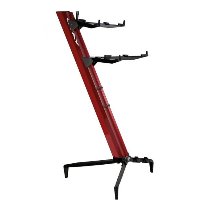 Stay Keyboard Stand TOWER 130cm - 2-Tiers, 4 Arms - Red