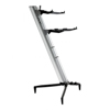 Keyboard Stand TOWER 130cm - 2-Tiers, 4 Arms - Silver