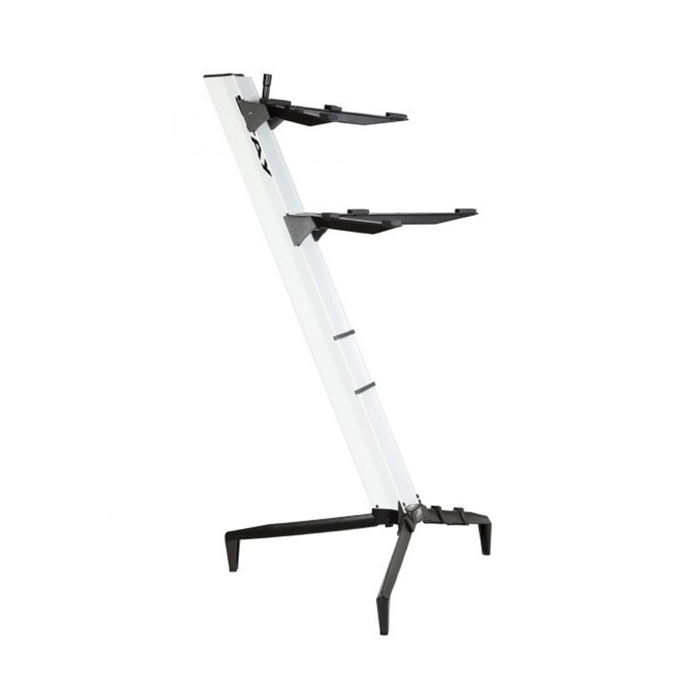 Stay Keyboard Stand TOWER 130cm - 2-Tiers, 4 Arms - White